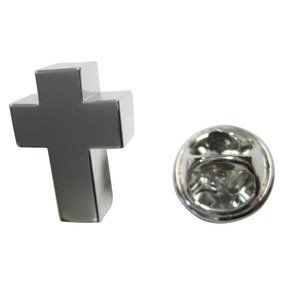 Memory Ashes Container Religious Cross Lapel Pin